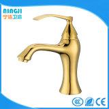 Faucet dourado do misturador da bacia do cobre da cor