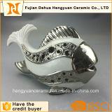 Pescados de cerámica caseros modificados para requisitos particulares del sostenedor de vela de la decoración