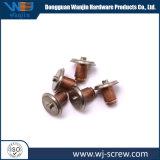 Precisión personalizada anodizado Chapado de cobre Tornillo de cabeza redonda