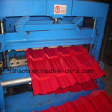 Heiße Stahlproduktions-Dach-Fliese-Rolle des Verkaufs-PPGI, die Maschinen-Lieferanten bildet