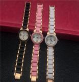 Relojes de lujo plásticos de la pulsera de las señoras Vs-495 con la correa de acero fina de cerámica