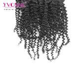 Clip rizado rizado del pelo brasileño de la Virgen en la extensión del pelo