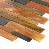 卸し売り台所壁の室内装飾のための線形ガラスモザイク・タイル