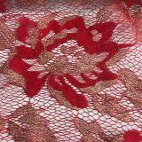 Merletto francese dell'oro del fiore l'altri disegno e colore