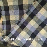 Teñido de hilados de algodón de seda de tela de cuadros
