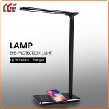 Lampes de bureau à LED avec chargeur rapide de Qi de téléphone sans fil Ce RoHS LED Lampes de table