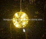 10PCS Mircoの暖かい白LEDストリングLightchainが付いている10cmの装飾的なガラス玉