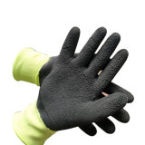 Cut-Resistant нейлон и из арамидного волокна с покрытием из латекса из пеноматериала гильзы Защитные перчатки