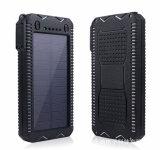 vente en gros mobile de pouvoir du téléphone cellulaire 10000mAh de côté solaire de pouvoir
