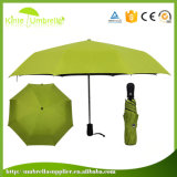 自動の3つのフォールドの小型小さい傘はハンドルを開閉したり