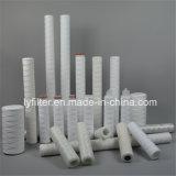 1 5 de Patroon van de Filter van de Wond van het Koord van 10 Micron voor Polypropyleen/Katoen/Glasvezel