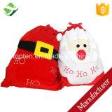 Bolso grande de Papá Noel de la Navidad del regalo del saco de la bolsa caliente del lazo
