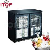 2ドアの飲料のコレクションガラスのドアのための商業飲み物のクーラーのスーパーマーケットのショーケース冷却装置クーラーのスリラー