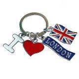 Tema do amor em forma de coração esmalte Hard Key Ring (XD-MK-07)