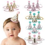 1pcs Cute 1/2/3 enfants Chapeaux de fête d'anniversaire de la décoration