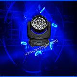 Indicatore luminoso capo mobile della discoteca dello zoom della strumentazione LED 19*12W del randello della fase