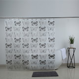 Waterproof Butterfly Print Design EVA Shower Curtains