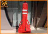 Barreira de segurança plástica Extensible da estrada da qualidade superior para o tráfego