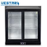 Le VSC-1000 vitrine verticale avec l'intérieur du refroidisseur de condenseur
