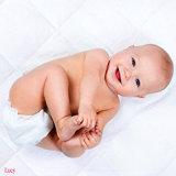 Gestepptes ultra weiches weißes Bambusterry befestigtes Blatt redet wasserdichten Baby-Krippe-Matratze-Schoner/Auflage an