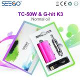 2017 de Neigende g-Klap van Seego van het Product K3 & tc-50W de Vloeibare Elektronische Sigaret van E