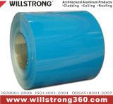 0,25 mm de grain du bois d'architecture de la bobine d'aluminium prépeint Panneaux de signalisation de plafond de la canopée des Façades Façades Ventilées