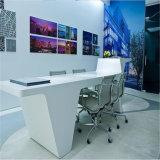 현대 디자인 사무용 가구를 위한 치료된 높은 광택 백색 사무실 책상