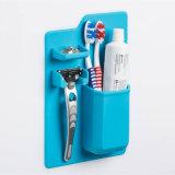 シリコーンのシャワーのオルガナイザーの歯ブラシのホールダーのシリコーンの歯ブラシのホールダーかみそりのホールダー