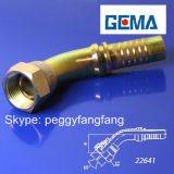 Instalación de tuberías recta de la cuerda de rosca masculina de la guarnición del estruendo 3861 de tubo de la guarnición de Swagelok de las guarniciones de las guarniciones hidráulicas del eslabón giratorio