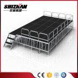 Etapa de aluminio de la venta caliente con las barandillas portables y la plataforma plegable