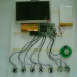 Módulo do vídeo da tela do LCD do cartão