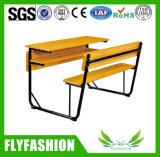 耐久の木の学校家具の倍学生の机およびベンチ(SF-36D)
