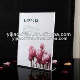 Support acrylique transparent de signe de présentoir de carte de Tableau
