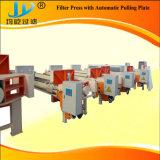 Presse de traction automatique de filtre à plaque avec la plaque de réception liquide