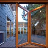 Portello di piegatura di alluminio della Bi di vetratura doppia della rottura termica
