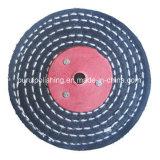 Roue de polissage de polissage de coton de point de couleur pour le métal