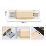 O USB o mais barato Pendrive da etiqueta do USB de OTG com Tipo-c porta