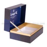 Logo de couleur bleue de l'impression de grandes boîtes en carton de haute qualité pour cadeau