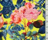 La venta al por mayor modificó la tela impresa Spandex de nylon magnífico del traje de baño para requisitos particulares de las rosas