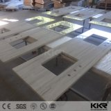 Superfície sólida personalizados Kingkonree vaidade topo com o CNC esculpir