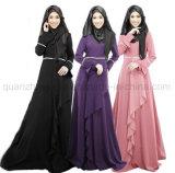 Robe chaude faite sur commande de musulmans de lin textile de mode de vente