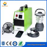 300W Sistema de energía solar portátil hogar generador con luz LED