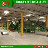 Manpower-Saving caucho automático de la línea de mantillo para el reciclado de chatarra y residuos de neumáticos