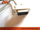 Kompatibles einteiliges 10-Lead EKG Kabel Philips-M2461A
