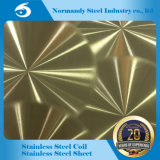 ASTM 409 a gravé la feuille en relief d'acier inoxydable pour la décoration