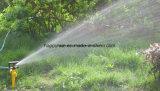 Irrigação de sistema de extinção de incêndios de giro do bocal duplo