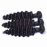 [إيندين] عذراء عميق موجة ريمي شعر طبيعيّ أسود 100% عذراء شعر