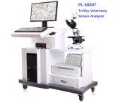 Chariot de vétérinaires de sperme animal de l'analyseur analyseur de sperme