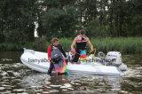 Piccola barca rigida della nervatura di pesca della vetroresina del guscio di Liya 12.5FT