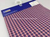 Crinkle покрашенный пряжей хлопка поли частично Fabric-Lz7693